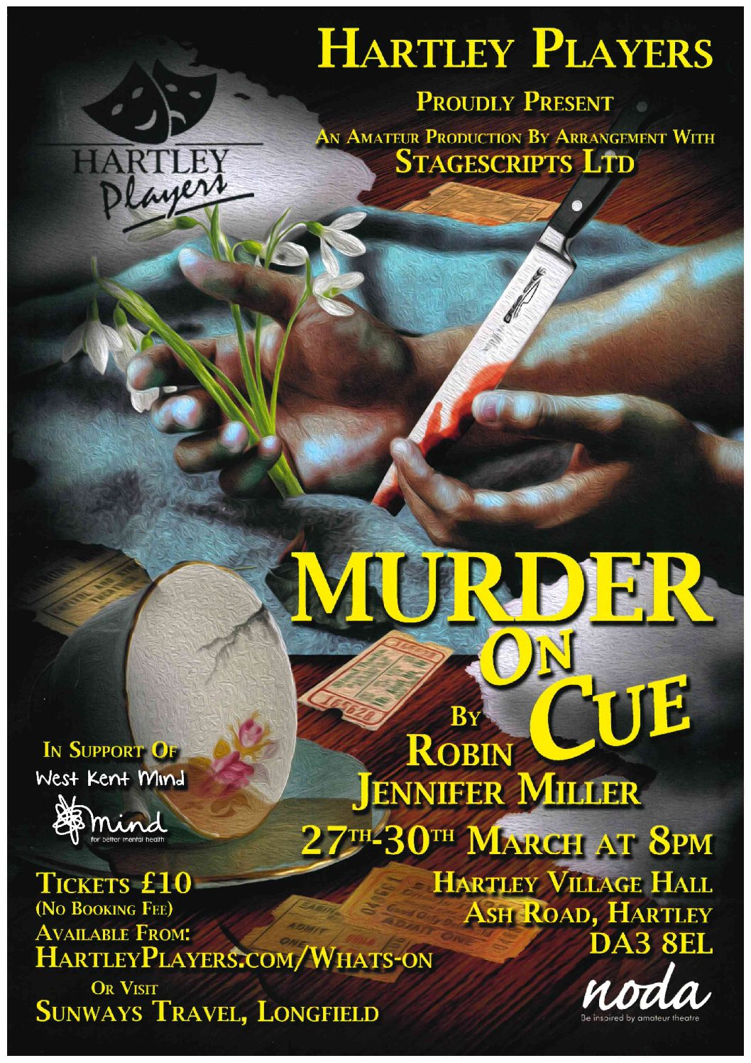 """Hartley Players – """"Murder On Cue"""""""
